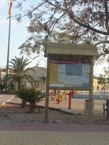 PR 99 - cartel parque Fuente Alamo