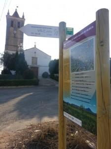 PR 98 - fin de ruta iglesia cuevas de reyllo